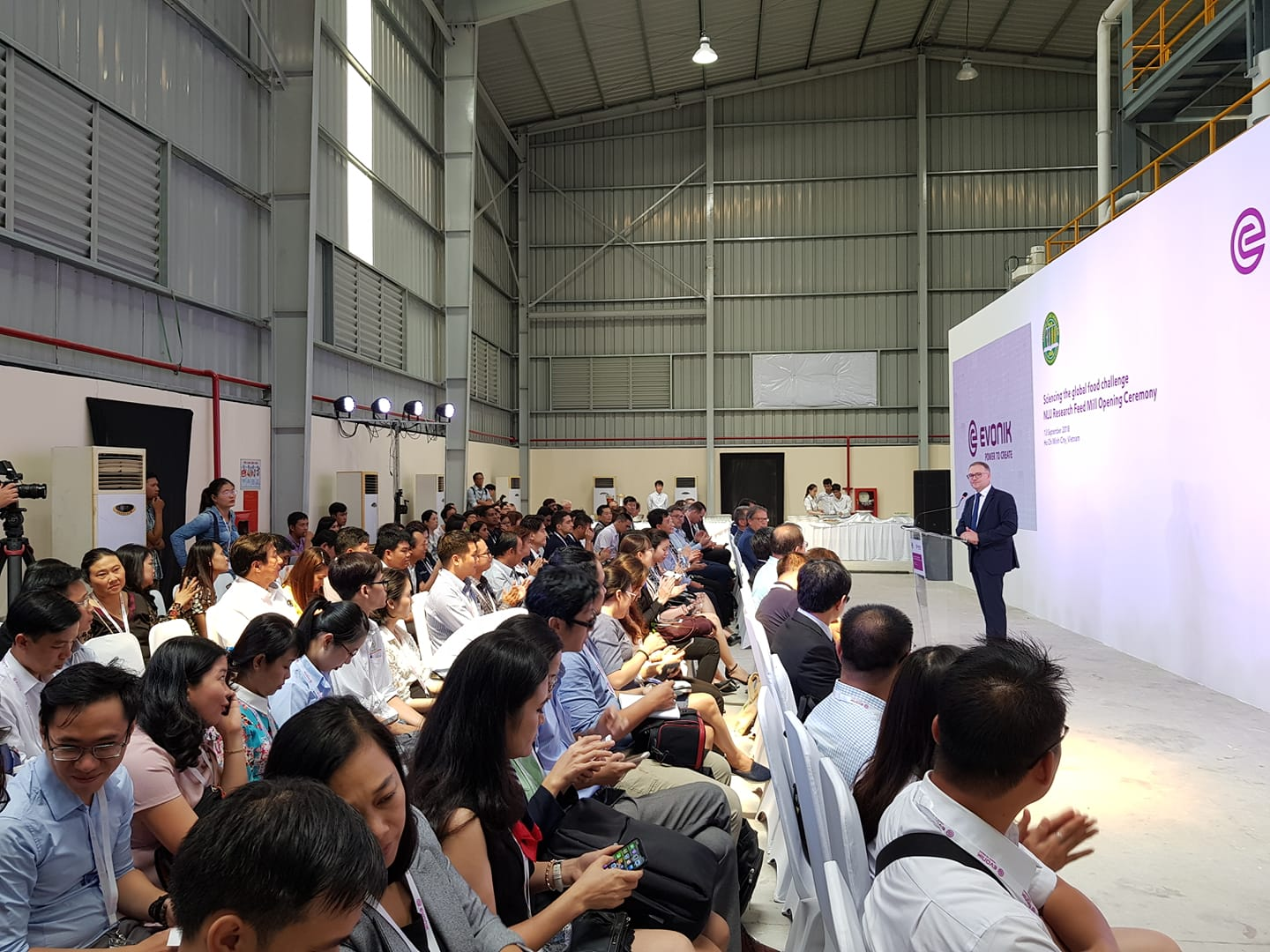 The Opening Ceremony of the Pilot Feed Mill at Nong Lam University